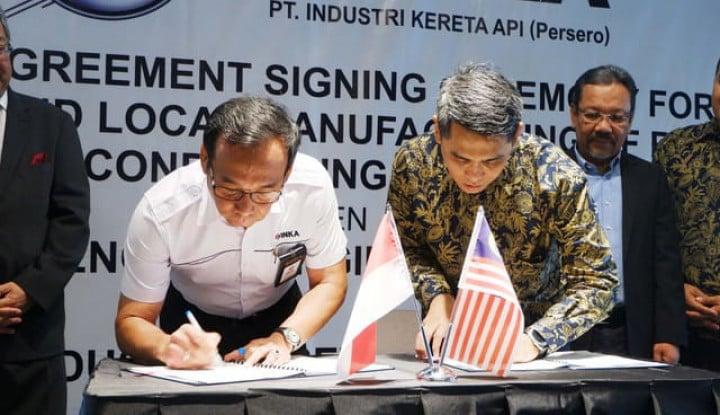 Inka Gandeng Perusahaan Malaysia Majukan Industri Kereta Api - Warta Ekonomi
