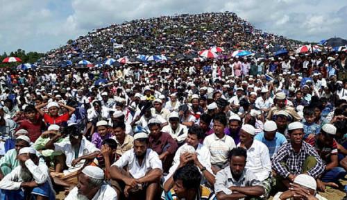 Karena Insiden Ini, Muslim Rohingya Lakukan Aksi Bungkam