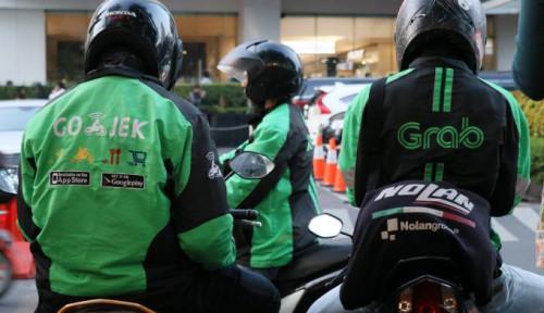 Foto Soal Wacana Gojek- Grab Dilebur jadi Satu, Ini Respons Menteri Plate