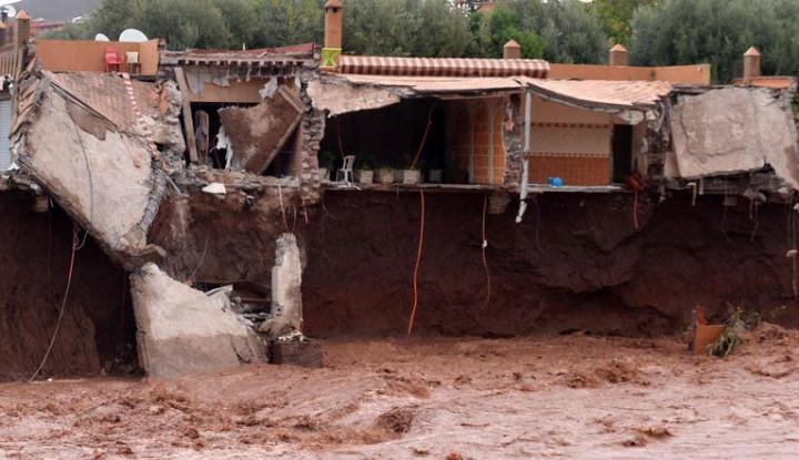 Banjir Bandang Terjang Lapangan Bola di Maroko, 7 Orang Tewas - Warta Ekonomi