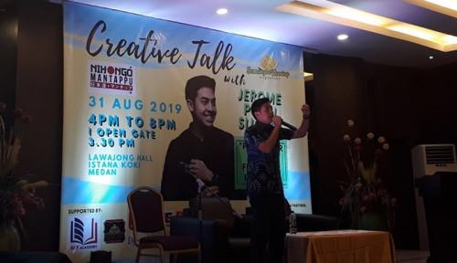 Foto Youtuber Jerome Polin Motivasi Anak Muda Medan
