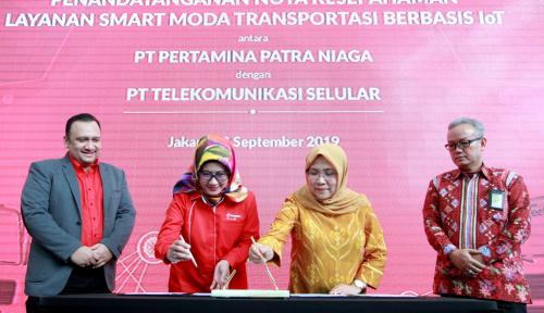 Foto Sempurnakan SmartMT, Pertamina Patra Niaga Gandeng Telkomsel