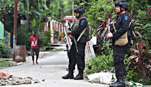 Foto Ada Baku Tembak di Papua, 1 Anggota KKB Tewas