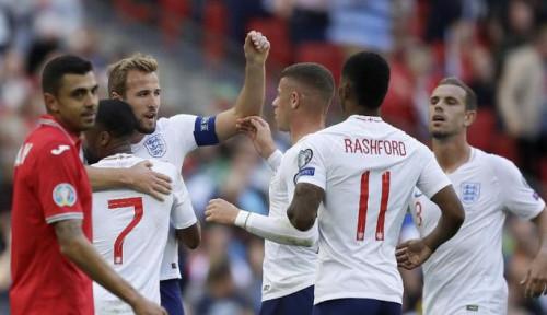 Foto Hasil Pertandingan Inggris Bungkam Bulgaria 4-0, Harry Kane Hat-trick