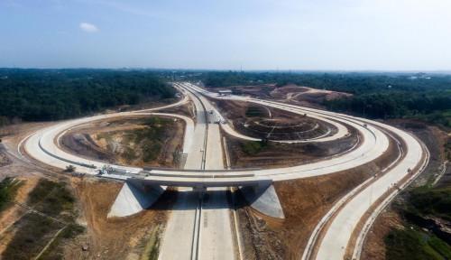Foto Jalan Tol Pertama Ibu Kota Baru Bakal Beroperasi Bulan Depan