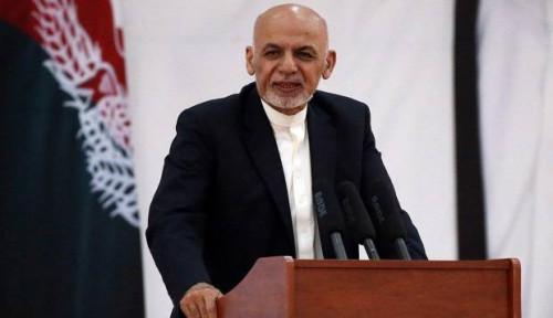 Foto Ghani Kembali Diumumkan Menangi Pemilu Presiden Afghanistan