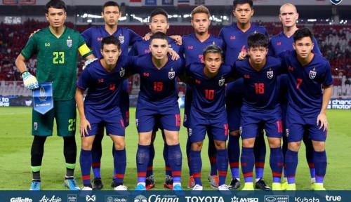 Foto Usai Bantai Indonesia 0-3, Timnas Thailand Arahkan Fokus ke UEA
