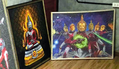 Foto Lukis Budha Seperti Sosok Ultraman, Seniman Thailand Terancam Pasal Penistaan Agama