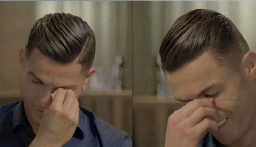 Foto Tangis Ronaldo Pecah Saat Kenang Sang Ayah Tercinta