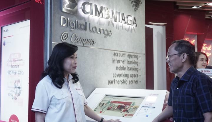 CIMB Niaga Resmikan Digital Lounge @Campus di Bandung - Warta Ekonomi
