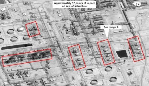 Foto AS: Senjata yang Dipakai Serang Kilang Minyak Arab Saudi Berasal dari Iran