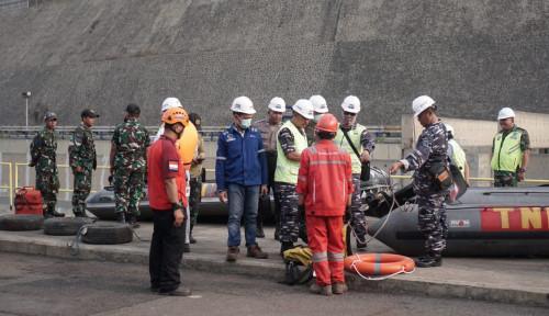 Foto Hiu Paus Terperangkap Saluran Air PLTU Paiton, PJB Turunkan Tim Khusus Evakuasi