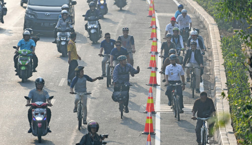 Foto Hore!! DKI Jakarta Segera Punya 63 Km Jalur Khusus Sepeda