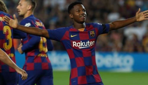 Foto Striker Muda 16 Tahun Milik Barcelona Ansu Fati Bersinar, Masihkah Barca Berniat Beli Neymar?