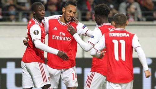 Foto Liga Eropa 2019: Arsenal Menang Telak 3-0 di Kandang Eintracht Frankfurt