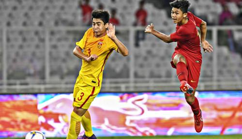 Foto Turun Minum, Timnas U-16 Belum Cetak Gol ke Gawang China