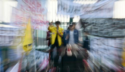 Aksi Mahasiswa di Samarinda Berakhir Ricuh