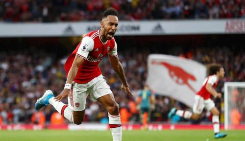 Foto Arsenal Gagal Lolos ke 16 Besar Liga Eropa, Aubameyang Ngaku Kecewa