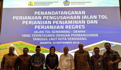 Foto Lewat Skema KPBU, PT PII Beri Penjaminan Tol Semarang–Demak