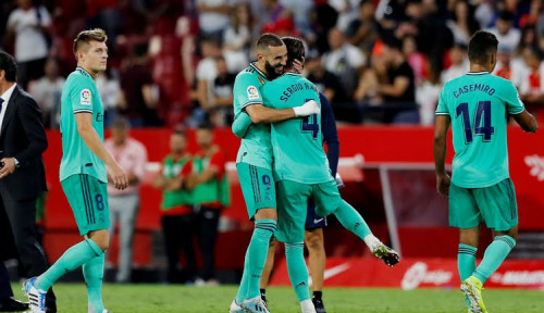 Foto La Liga Spanyol: Real Madrid Petik 3 Angka di Kandang Sevilla