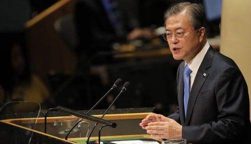 Ketika Moon Jae-in Bersemangat Ajak Trump dan Kim Jong-un Ketemu