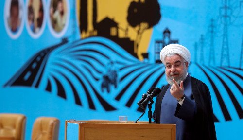 Foto Rouhani Tegas Tak Ingin Kembangkan Nuklir di Iran