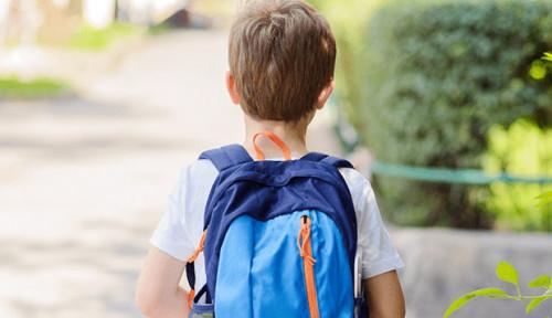 Foto Lawan Kanker, Bocah Ini Disambut Tepuk Tangan Kawan-kawannya saat Masuk Sekolah