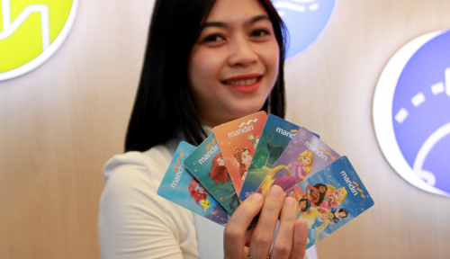 Foto Bank Mandiri Rilis e-money Edisi Disney's Princess