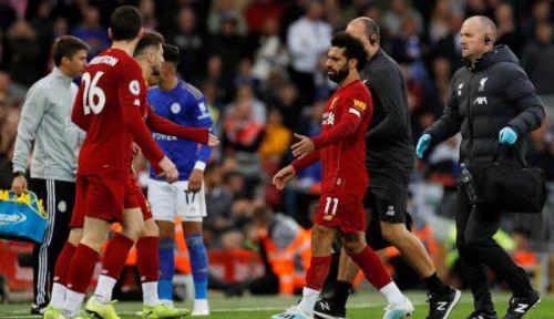 Foto Cidera Engkel, Mohamed Salah Tak Tampil Lawan Man United?