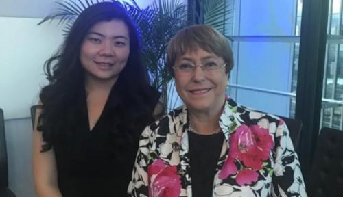 Foto Veronica Koman Bertemu Komisioner HAM PBB, Bahas Apa?