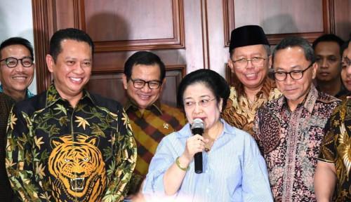 Foto Bertemu Megawati, Pimpinan MPR Bahas Usulan Amandemen Terbatas UUD 1945