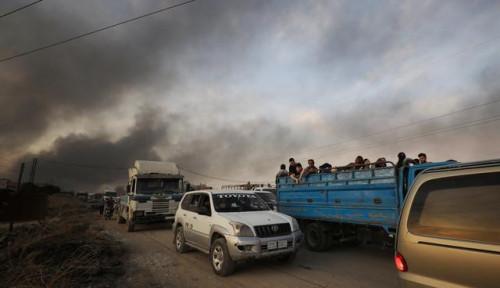 Foto Militer Turki Serang Suriah, Ratusan Orang Tewas dan Puluhan Ribu Mengungsi dari Suriah