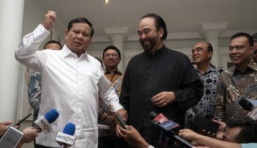 Foto Deal, Ini Tiga Poin Kesepakatan Pertemuan Prabowo-Paloh