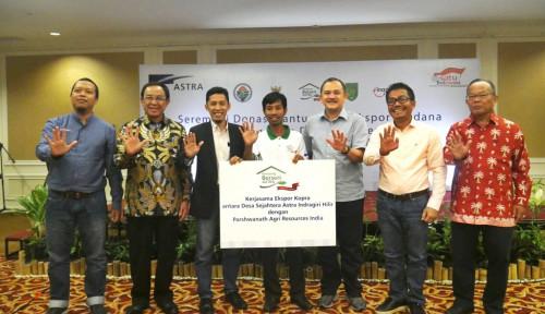 Foto Mantap! Ekspor Perdana Kopra Putih Desa Sejahtera Astra Indragiri Hilir, Riau