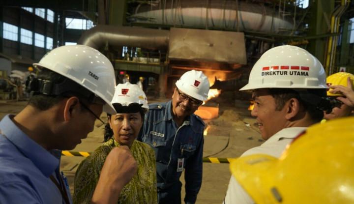 Sambangi 3 Pabrik, Rini Yakin Tahun Depan Krakatau Steel Bisa Sehat - Warta Ekonomi