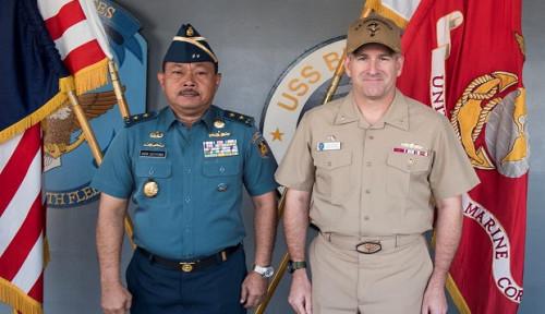 Foto Adakan Pertemuan di USS Blue Ridge, TNI AL dan AL AS Bahas Ini
