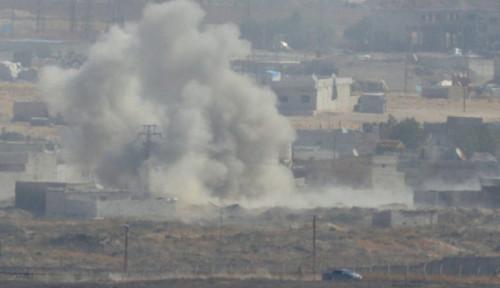 Foto Roket Hancurkan Mobil Tempur Turki di Perbatasan Iran dan Tewaskan 1 Orang