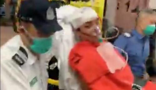 Foto Pimpinan Demonstran Hong Kong Diincar, Dipukul Pakai Palu Hingga Ditusuk Pisau