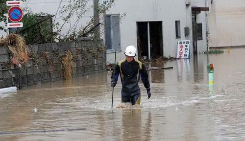 Foto Topan Hagibis di Jepang, Limbah Nuklir Berserakan