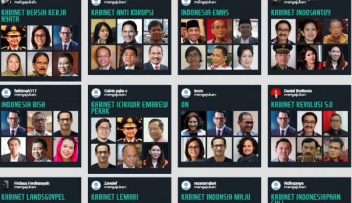 Kreativitas Tanpa Batas, Netizen Bikin 6.500 Kabinet Bayangan Jokowi Lewat Games! - Warta Ekonomi
