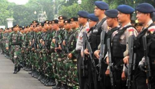 Foto Amankan Pelantikan Jokowi-Ma'ruf Amin, 30.000 Personel Polri dan TNI Diterjunkan