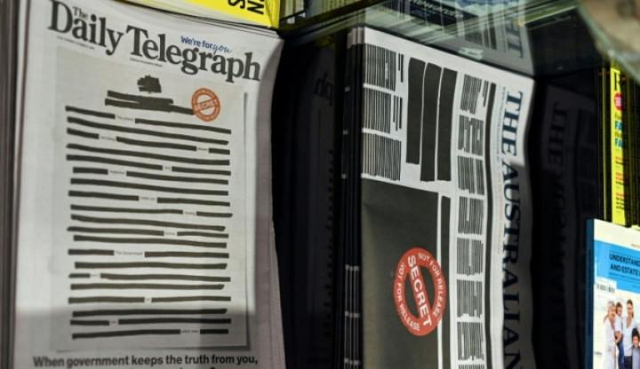 Media Cetak Australia Ramai-Ramai Sensor Halaman Depan, Kenapa? - Warta Ekonomi