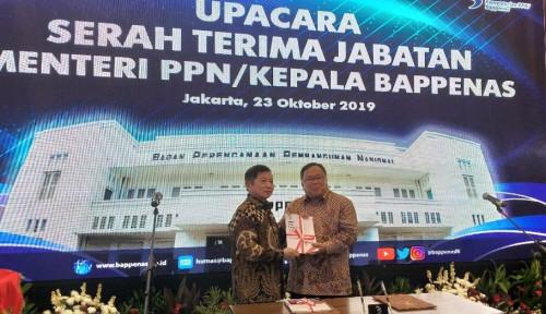 Foto Isak Tangis Bambang Warnai Sertijab Kepala Bappenas