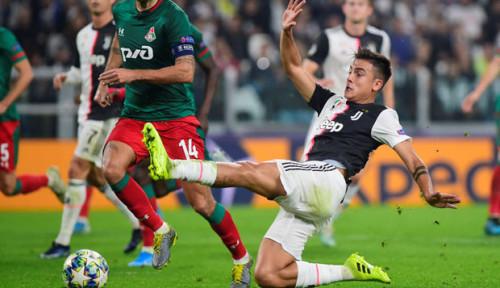 Foto Aksi Paulo Dybala Warnai Comeback Juventus atas Lokomotiv Moskow