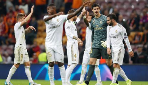 Foto Tampil Gemilang, Courtois Bantu Real Madrid Menang atas Galatasaray