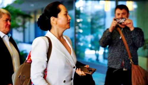 Foto Permintaan Stop Ekstradisi Putri Pendiri Huawei Dijegal Kanada, Pengacara: Kaki Tangan AS!
