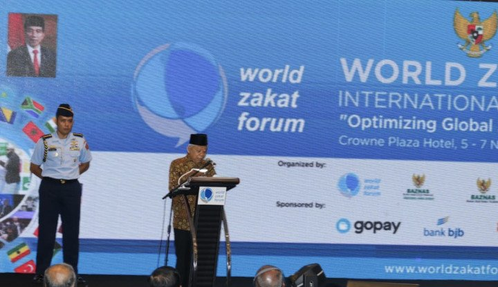 Dihadapan 28 Negara, Wapres Ma'ruf Amin Buka World Zakat Forum 2019 - Warta Ekonomi