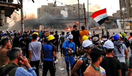 Foto AS Nyatakan Iran di Balik Aksi Keras Irak pada Demonstran