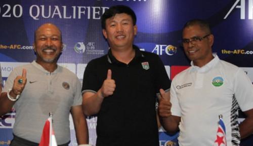 Foto Jelang Kualifikasi Piala Asia U19, Pelatih Timor Leste-Korea Utara Siap Tumbangkan Indonesia