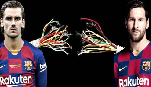 Foto Buktikan Kekompakan, Messi Bantu Griezmann Agar Tak Mandul